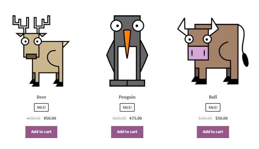 WooCommerce Currency per Product - Frontend