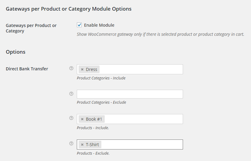WooCommerce Payment Gateways per Product or Category