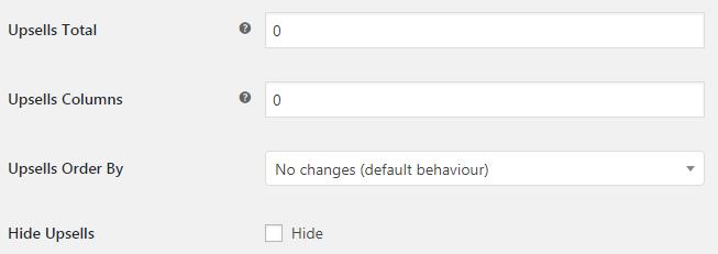WooCommerce Upsells - Admin settings